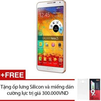 SamSung Galaxy Note 3 SM-N900 32GB (Trắng viền Vàng) + Tặng 1 ốp lưng Silicon và 1 miếng dán cường lực - Hàng nhập khẩu