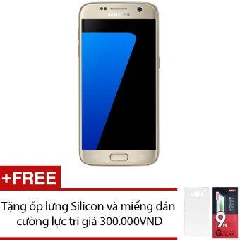 Samsung Galaxy S7 32GB (Vàng) + Tặng 1 ốp lưng Silicon và 1 miếng dán cường lực - Hàng nhập khẩu