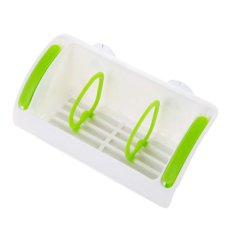 Suction Cup Draining Holder Rack Kitchen Tool Green (Intl)