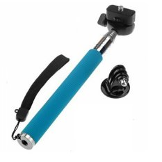 Tripod Adapter + Extendable Handheld Selfie Monopod For GoPro Hero 3 2 1 3+ Blue (Intl)
