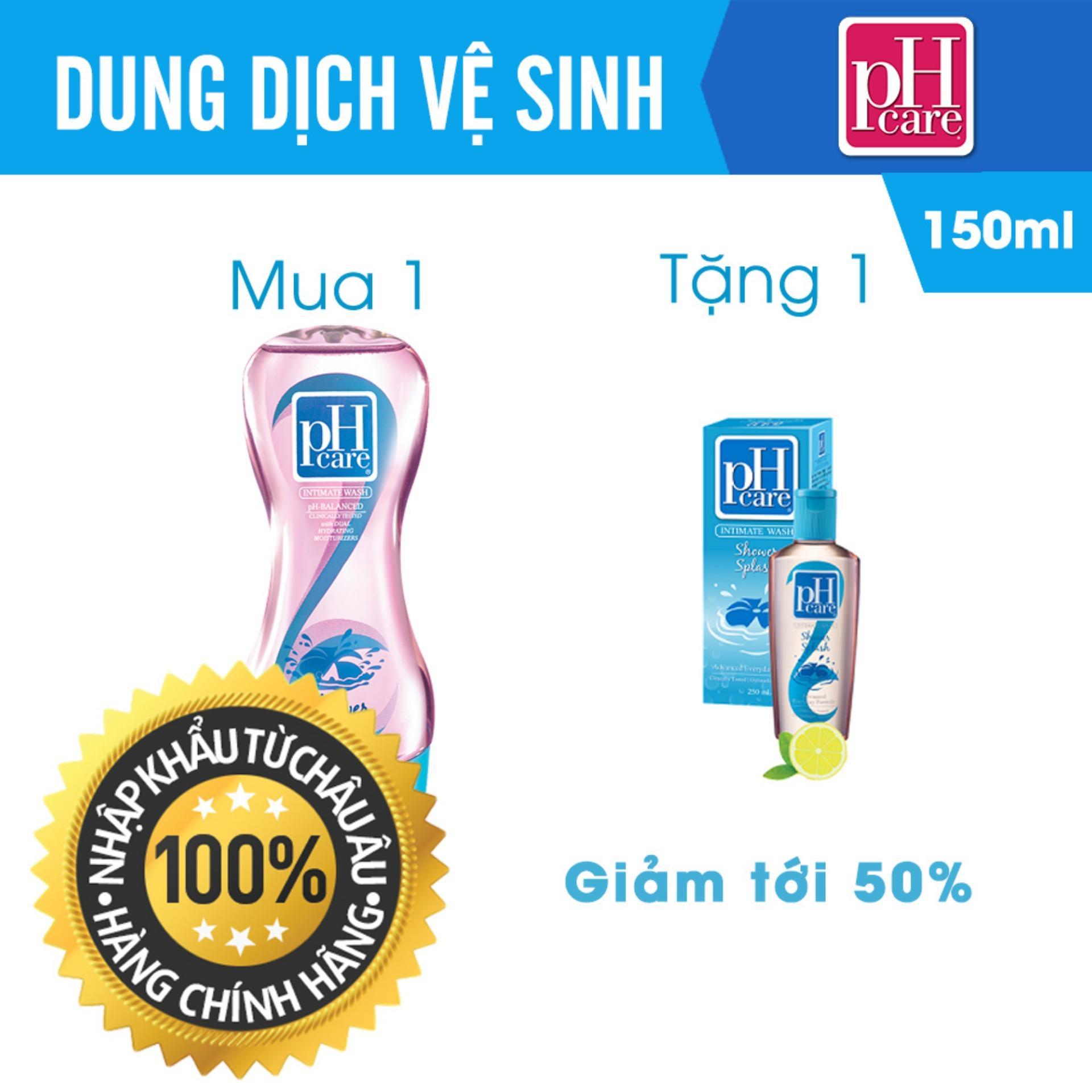 Hình ảnh Dung Dịch Vệ Sinh Phụ Nữ PH Care Intimate Wash Shower Splash 150ml TẶNG 1 Chai 50ml [ UIP - DDVS PH 11 ]