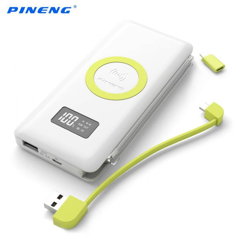 Hình ảnh Pin dự phòng Sạc không dây Pineng PN-888 - Quick Charge 3.0 10000mAh- Phân Phối Chính Hãng