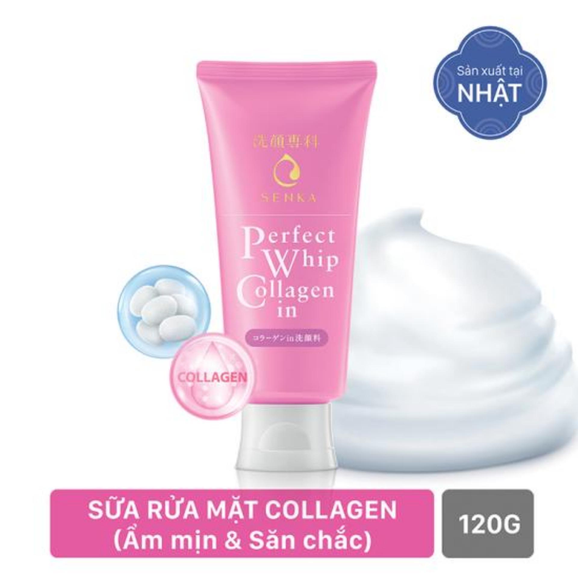Hình ảnh Sữa Rửa Mặt Collagen Senka Perfect Whip Collagen In 120g (code 14836)