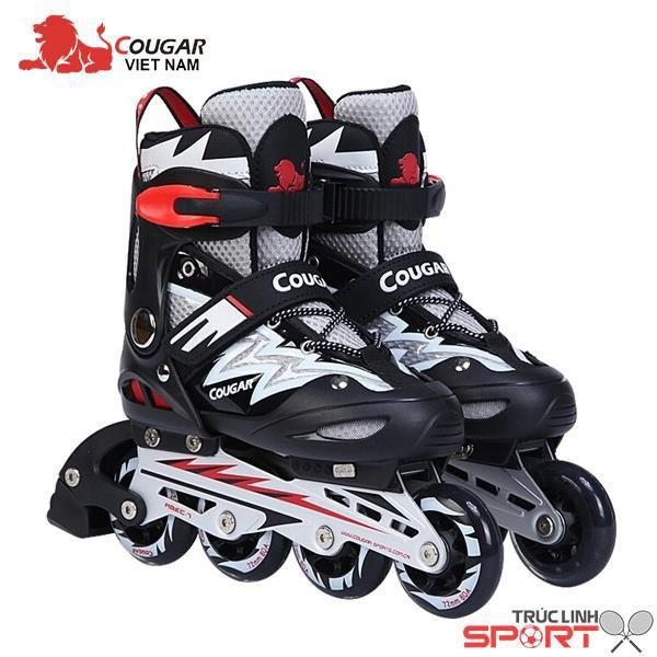 Giầy trượt pati Cougar ghi đen size S(31-34 ), size M(33- 37), size L(37-42 )