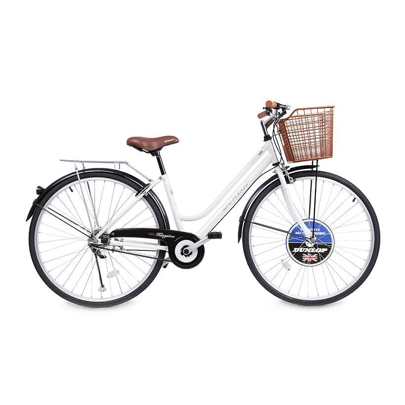 Xe đạp thời trang nữ Dunlop CTB001-2 124 x 20 x 76 cm (Trắng)