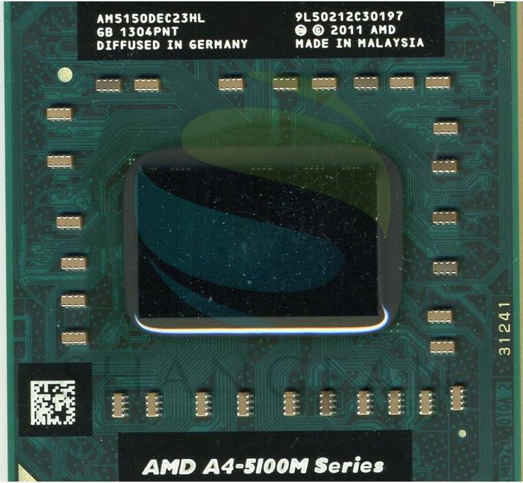 AMD A-series A4 5100 M Series A4-5150M A4 5150 M AM5150DEC23HL PGA Laptop Notebook Prosesor CPU Socket FS1- internasional