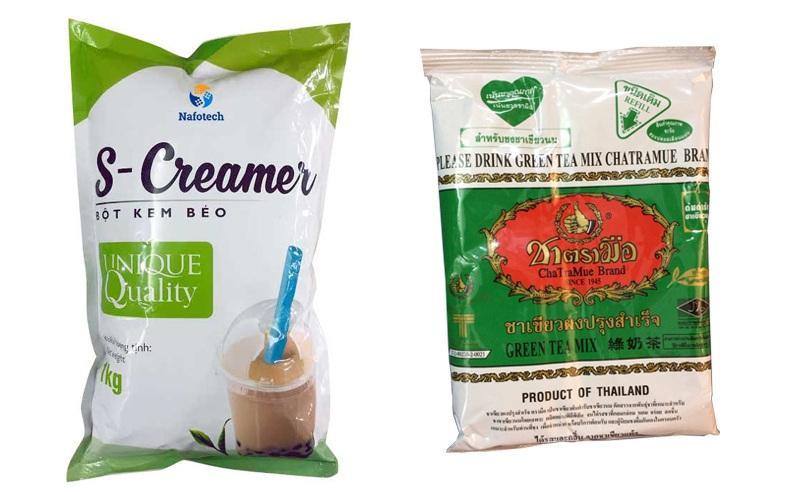 Hình ảnh Combo 1 Gói Trà Xanh Thái Lan (200g)+ 1 Bột kem sữa S-creamer (1kg)