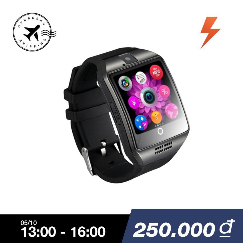 Đồng Hồ Bluetooth Thong Minh Q18 Man Hinh Cảm Ứng Co Sim Cho Điện Thoại Ios And Android Quốc Tế Trung Quốc Chiết Khấu 50