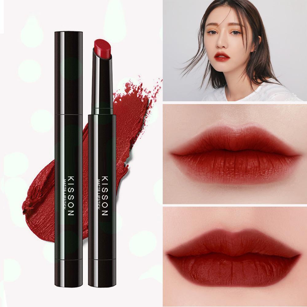 Hình ảnh Son lì KISSON Matte Lipstick mã KN02 ( màu đỏ nâu)