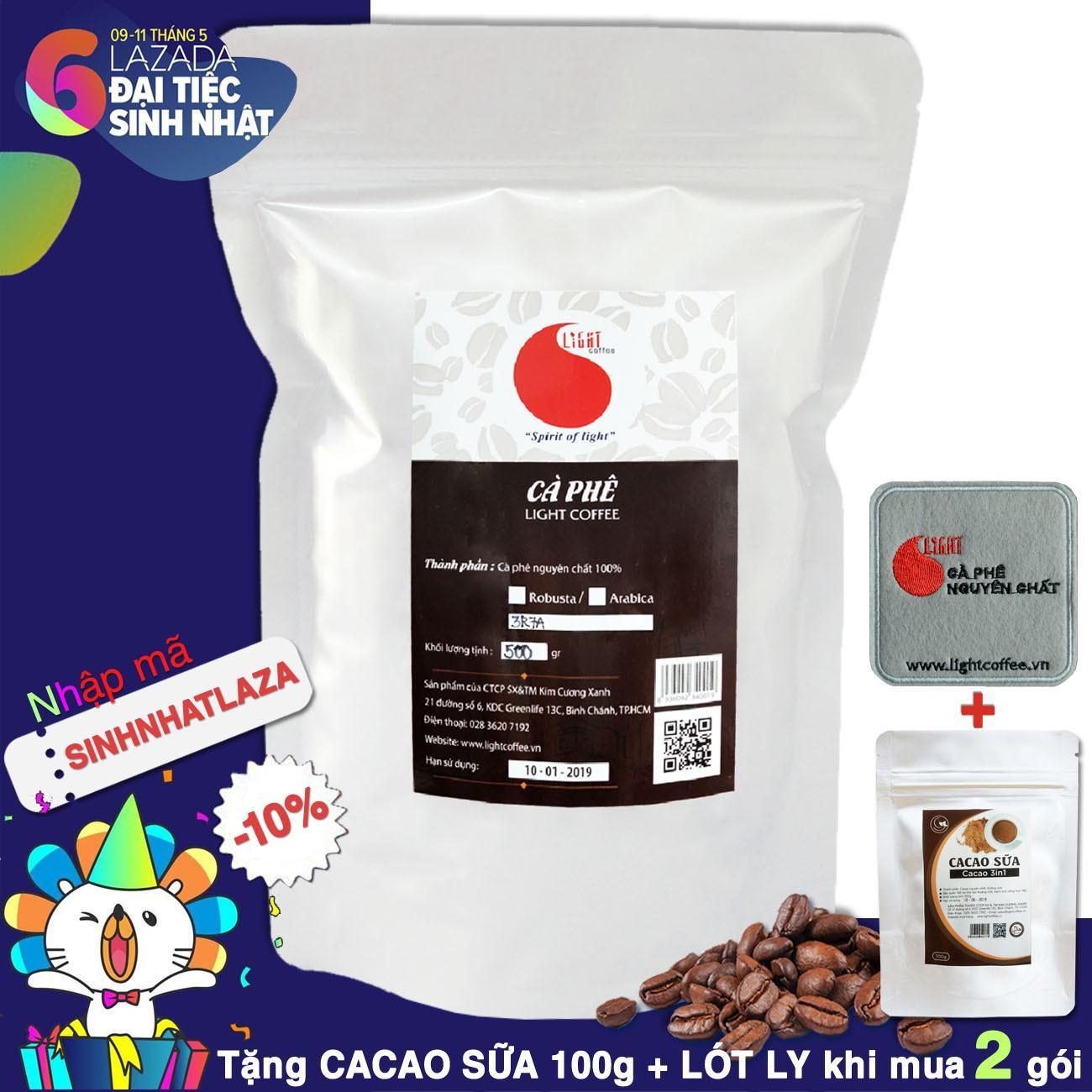 Giá Bán Ca Phe Nguyen Chất 100 Dạng Hạt Chua Thanh Dịu Dang Light Coffee 500Gr Trong Hồ Chí Minh