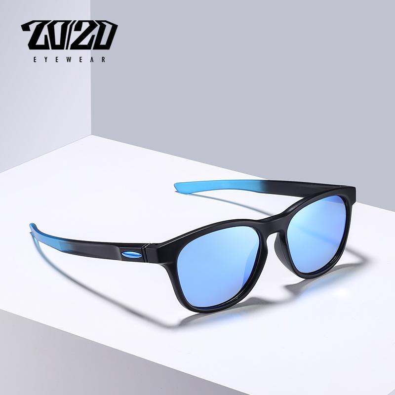 20/20 Brand Design New Sunglasses Men Unisex TR90 Polarized Blue Vintage Eyewear Sun Glasses