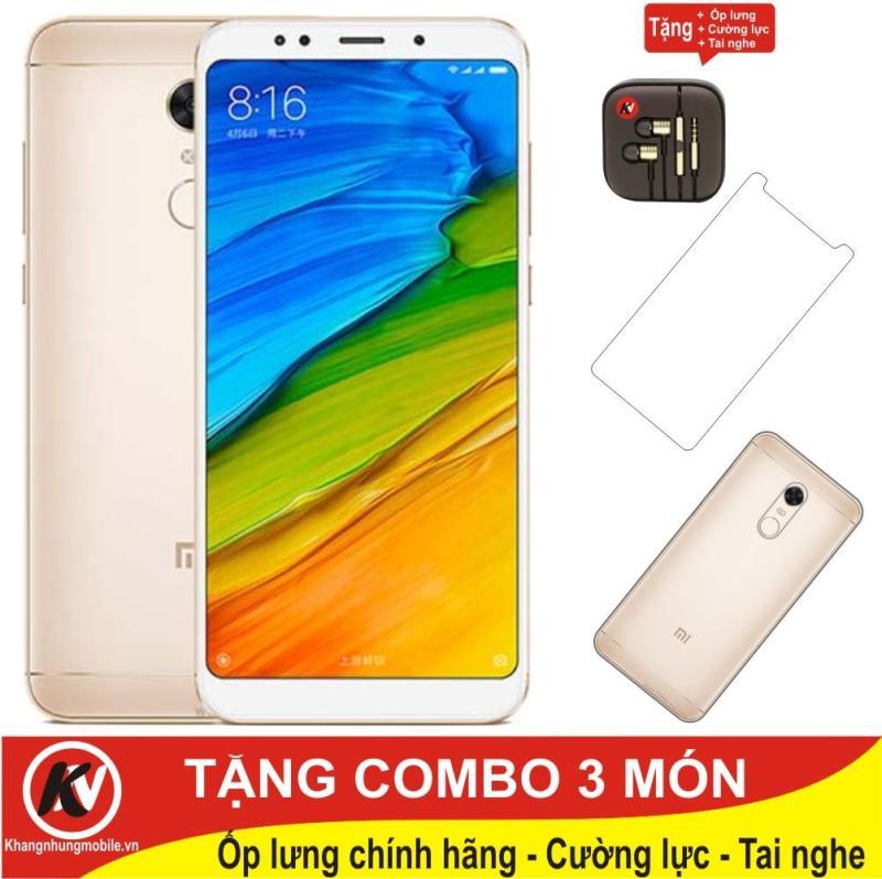 Xiaomi Redmi 5 16GB Ram 2GB Kim Nhung (Vàng) - Hãng phân phối chính thức + Tai nghe + Cường lực + Ốp lưng silicon