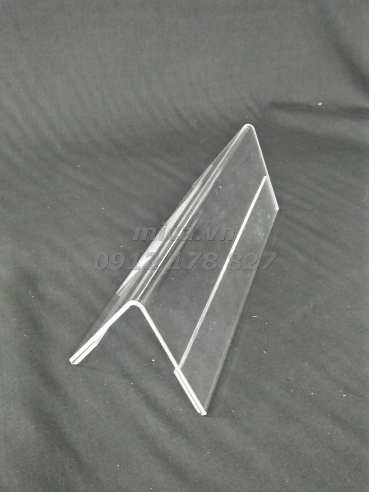 Mua 10 Menu mica chữ A kích thước 85 x 240mm (cao x dài)