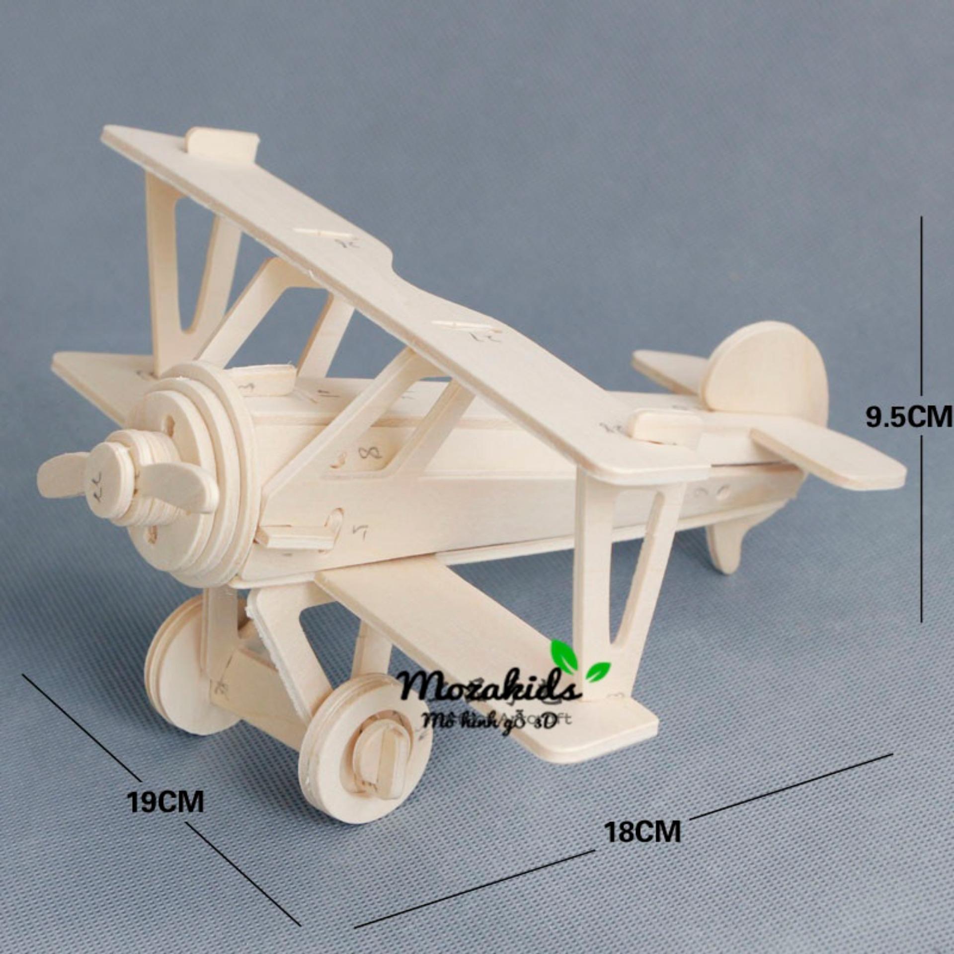 Hình ảnh Đồ chơi lắp ráp gỗ 3D Mô hình Máy bay NieuPort 17