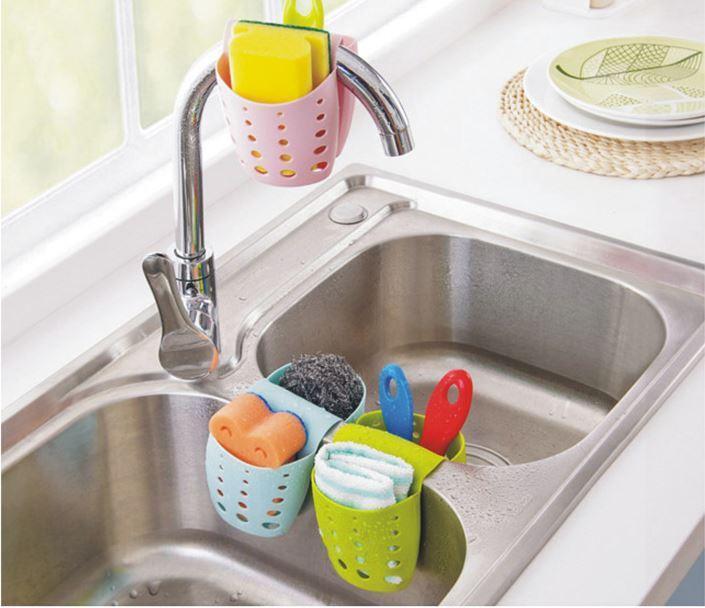 Hình ảnh Giỏ treo bồn rửa bát đựng dồ dùng tiện ích cho mọi gia đình