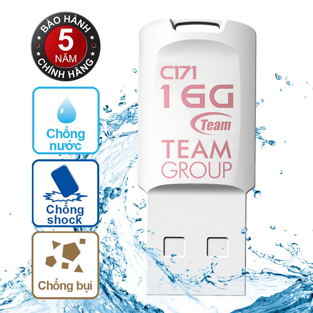 Usb 16Gb Chống Nước C171 Team Taiwan Trắng Hang Phan Phối Chinh Thức Team Chiết Khấu