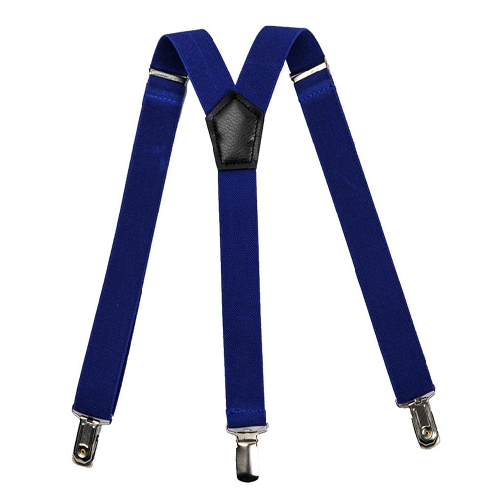 Wonderful Toy Male and Female Fashionable Solid olor 3 lips Adjustable Elastic Triple Braces Suspender Trousers