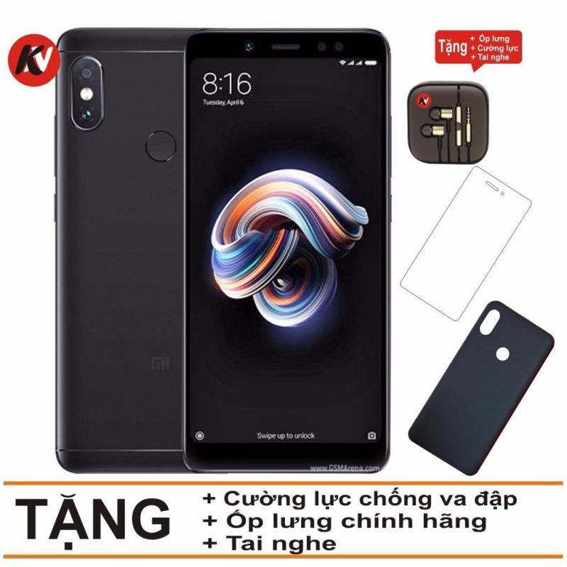Xiaomi Redmi Note 5 Pro 32GB Ram 3GB Khang Nhung (Đen) - Hàng nhập khẩu + Ốp lưng + Cường lực + Tai nghe