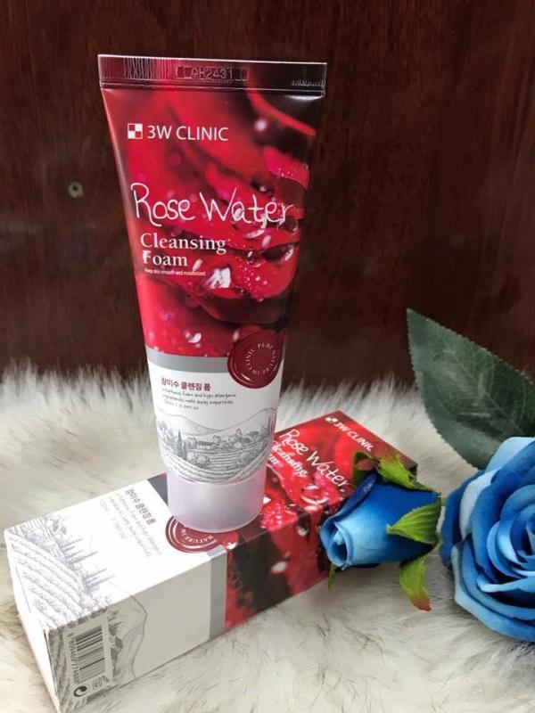 Sữa Rửa Mặt Hoa Hồng 3W Clinic Rose Water Cleansing Foam (100 ml) nhập khẩu