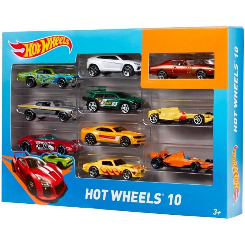 Hình ảnh Bộ 10 Xe Mô Hình Cơ bản HOT WHEELS Tỉ Lệ 1:64 - Xe Đua Mô Hình Hot Wheels 8621 - LICLAC