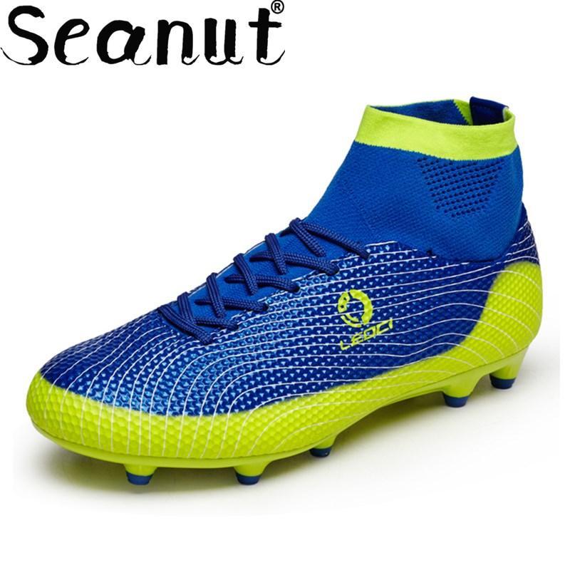 Seanut Sepatu Sepak Bola untuk Pria Sepatu Sepakbola Anak-anak Tinggi Sepatu Sepak Bola Asli dengan