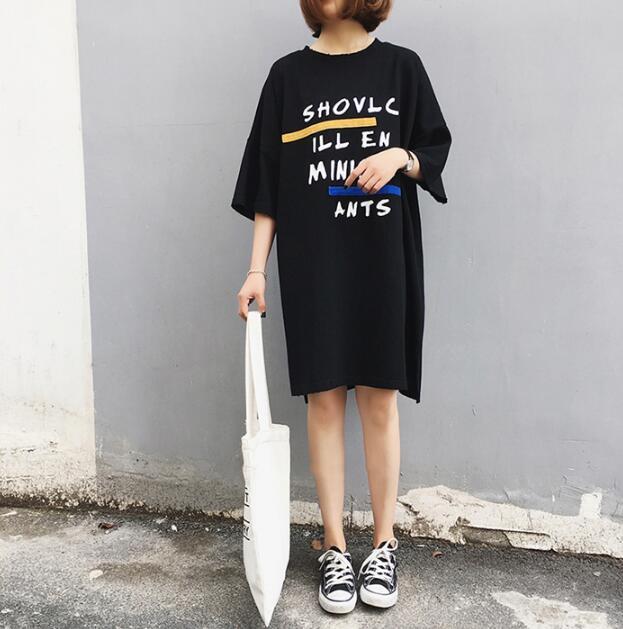Hình ảnh Đầm Váy Áo Thun Dáng Form Dài Suông Thời Trang FORHIMCS2 DAM 9000024C3 B