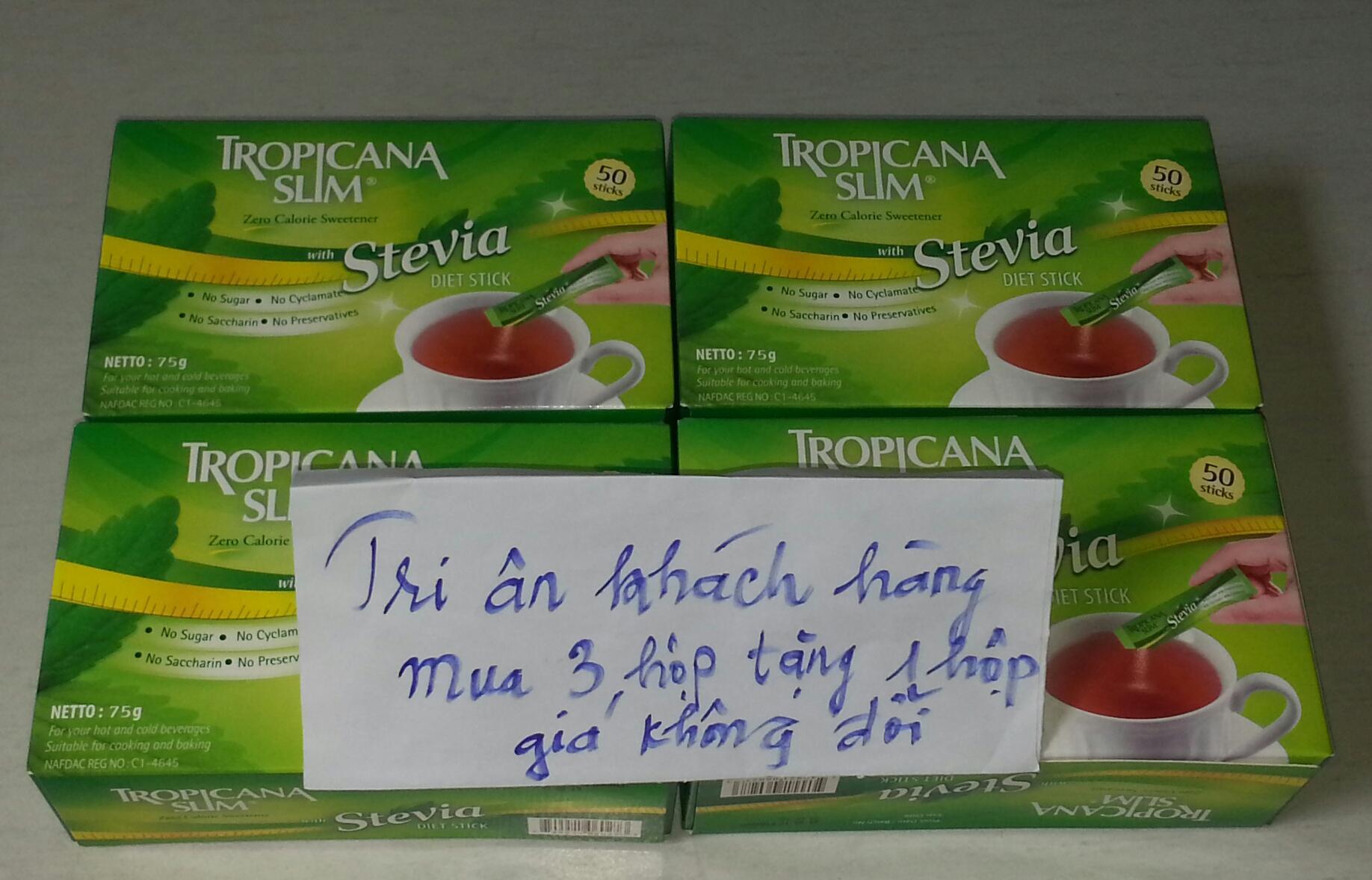 Mua Bch Ha Online Nutrifood Gi Tt Tropicana Slim Stevia 3 Hp Tng 1 Ng Cng Loi B N