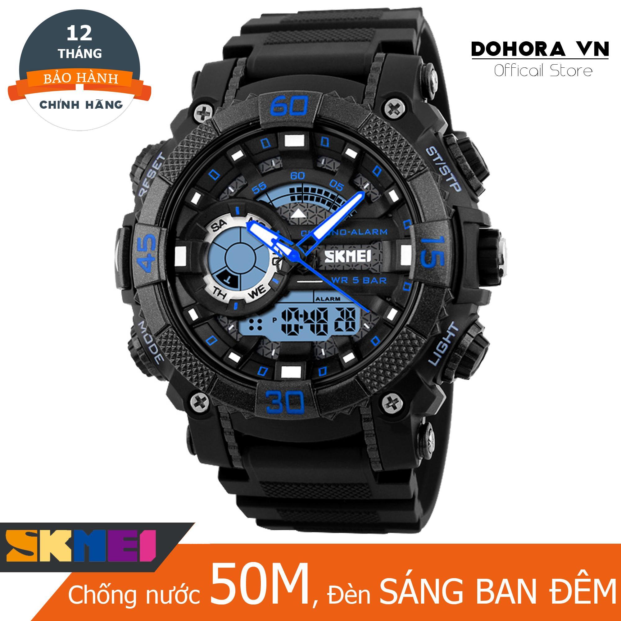 Hình ảnh Đồng hồ thể thao nam Skmei 1228 Stopwatch chống nước 50m dây cao su cao cấp