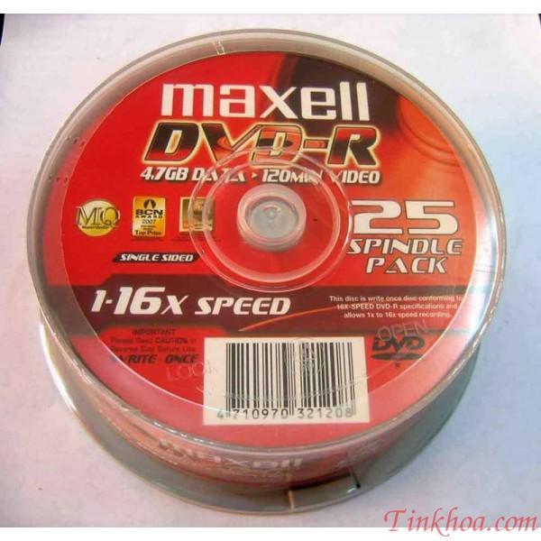 Hình ảnh Đĩa trắng DVD MAXEL HÔP TRÒN 10 CÁI
