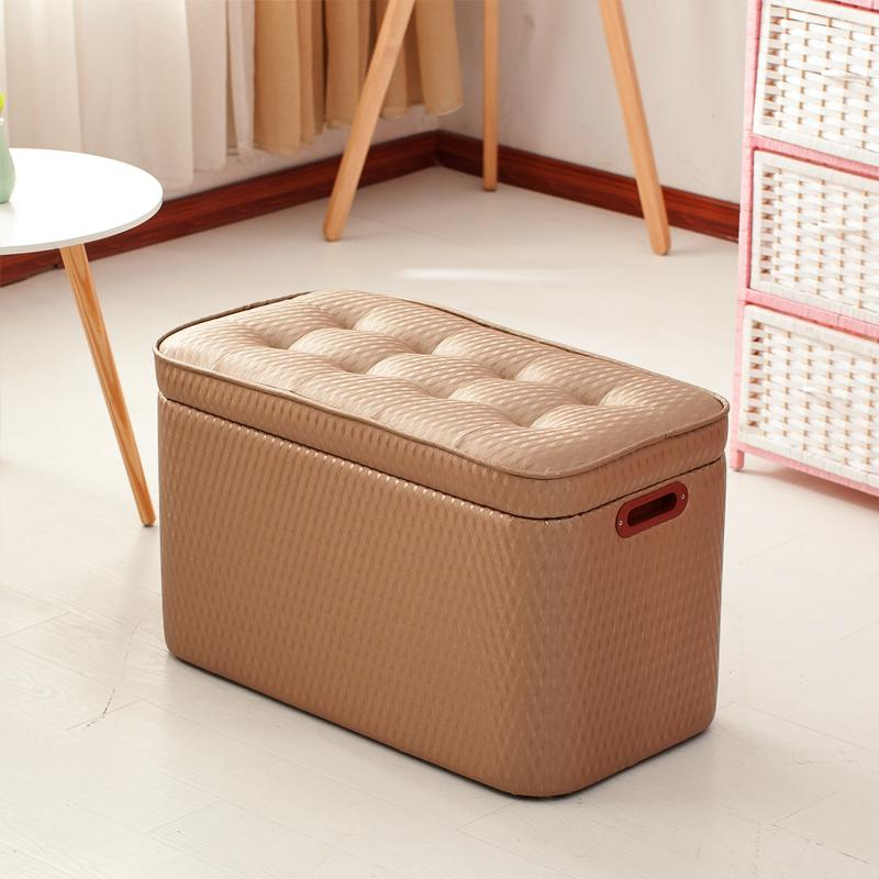 Solid Wood Footstool Shoe Trying Stool Clothing Shoe Store Sofa Stool Fitting Room Doorway Stool Storage Chair SHOEBOX
