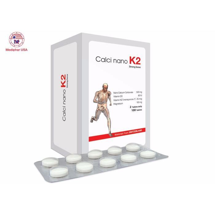 Calci Nano K2 tăng chiều cao, phòng giảm loãng xương, còi xương