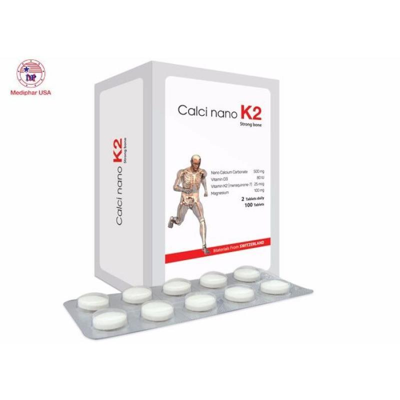 Calci Nano K2 tăng chiều cao, phòng giảm loãng xương, còi xương nhập khẩu