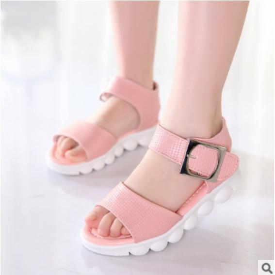 Hình ảnh Sandal chống trượt phong cách Hàn quốc bé gái 5-10 tuổi