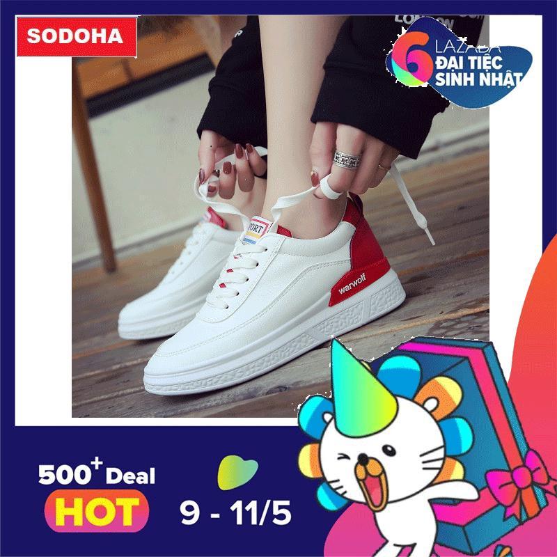 Mã Khuyến Mại Giay Nữ Sneaker Thể Thao Mẫu Mới Sieu Hot Sodoha B22Wr