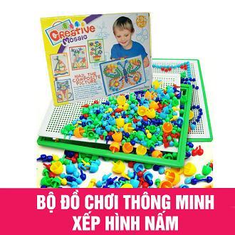 Hình ảnh Bộ đồ chơi ghép hạt nhựa hình nấm 296 hạt