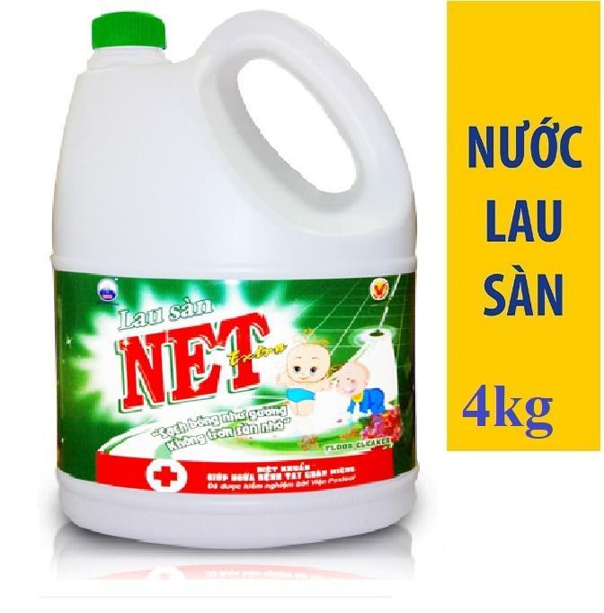 Hình ảnh Nước lau sàn NET Extra Diệt khuẩn can 4kg