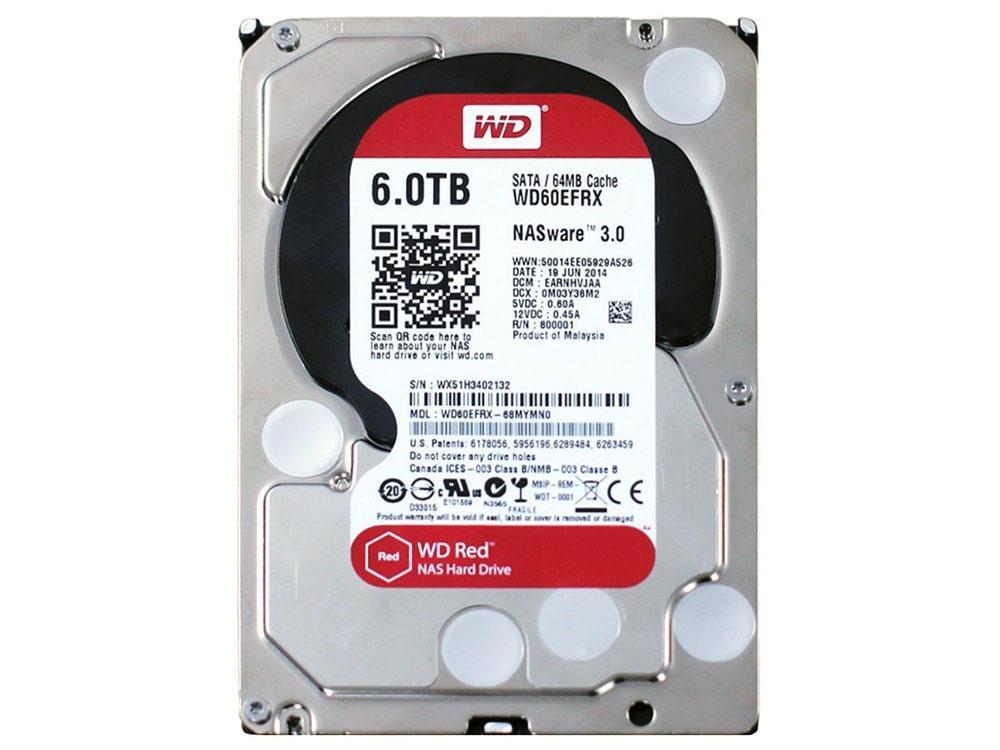 Hình ảnh Ổ CỨNG HDD Western Digital 6TB 5400RPM NASware 3.0 (RED)