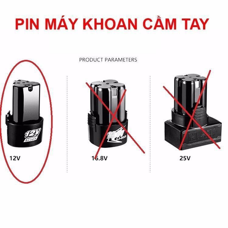 Pin 12v cho máy khoan pin  may khoan pin  may khoan pin 12v