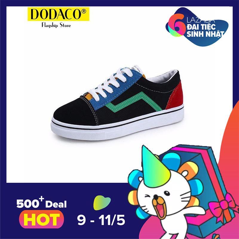 Bán Mua Giay Sneaker Nữ Da Lộn Thời Trang Dodaco Tts0017 167 Đen Bắc Ninh