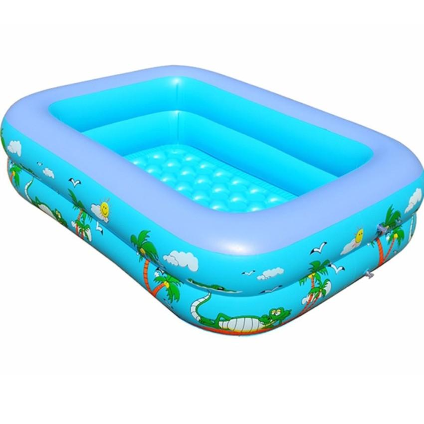 Hình ảnh Bể bơi phao 3 tầng cho bé [Size 160/150/130/120 cm] - Tặng keo vá bể