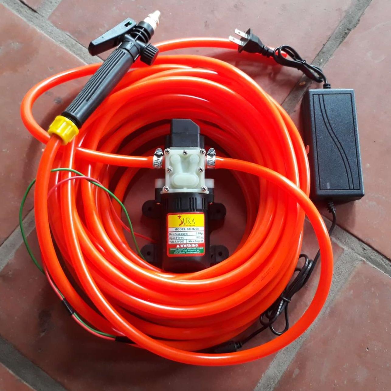 Hình ảnh Máy rửa xe mini CỰC MẠNH 6m dây - máy bơm nước mini 12v-rửa xe đa năng