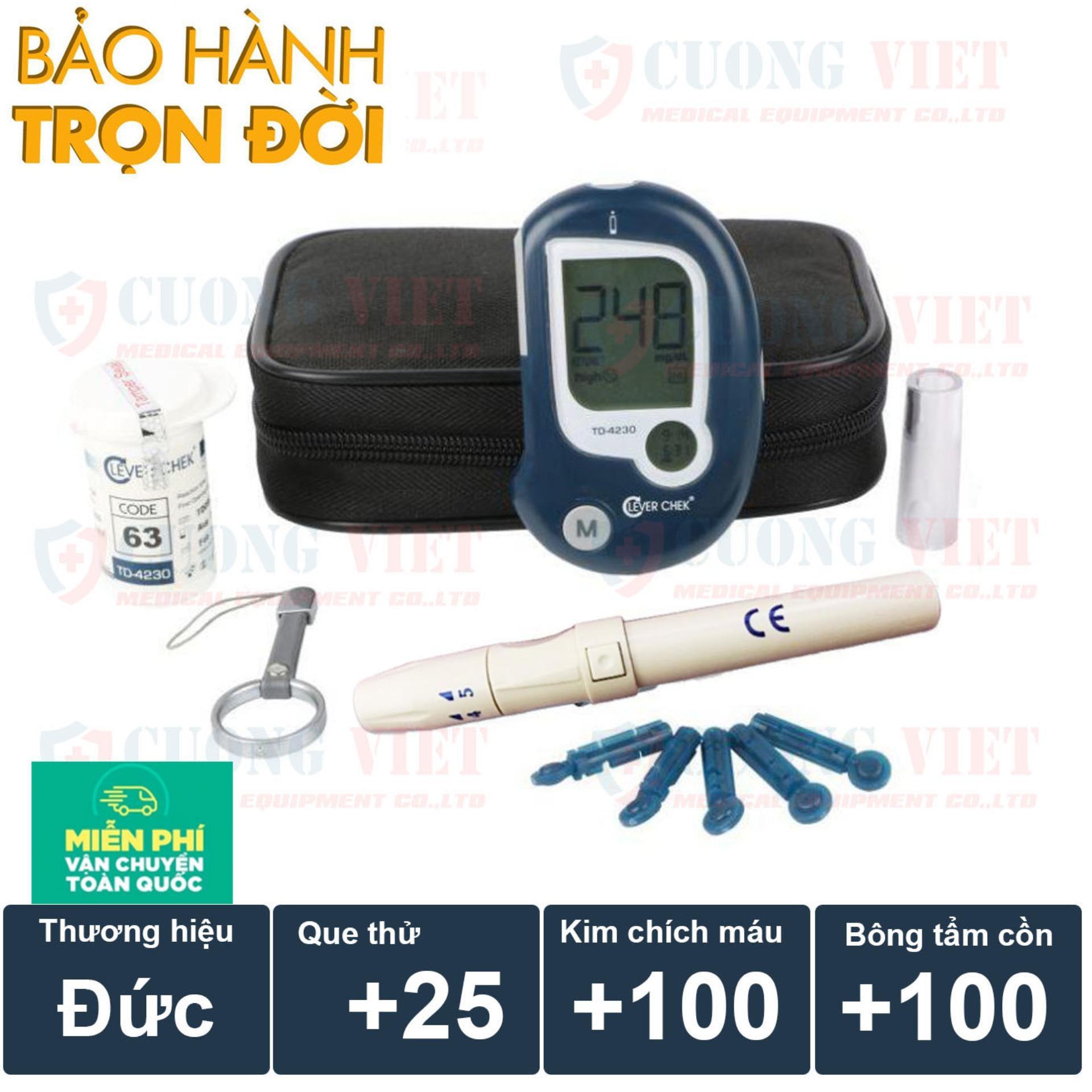 Hình ảnh Máy đo đường huyết Clever Chek TD 4230 Đức Tặng kèm 25 que thử