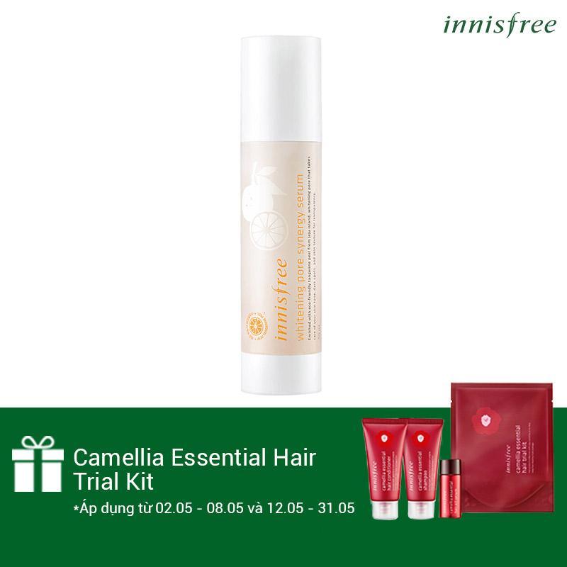 Mua Tinh Chất Dưỡng Co Đặc Lam Sang Da Từ Vỏ Quýt Tươi Jeju Innisfree Whitening Pore Synergy Serum 50Ml Tặng Camellia Essential Hair Trial Kit Số Lượng Co Hạn Trực Tuyến Rẻ