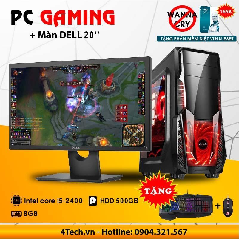 Hình ảnh Bộ máy tính intel core i5 2400 RAM 8GB 500GB Dell 20 inch Wide Led