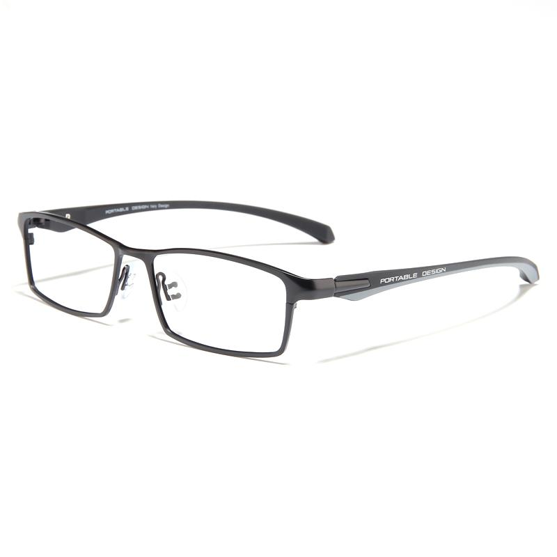 46cae6d78 Ultra-Light Pure Titanium Alloy Glasses Frame Nearsighted Glasses man  Business Full Frame Color Changing