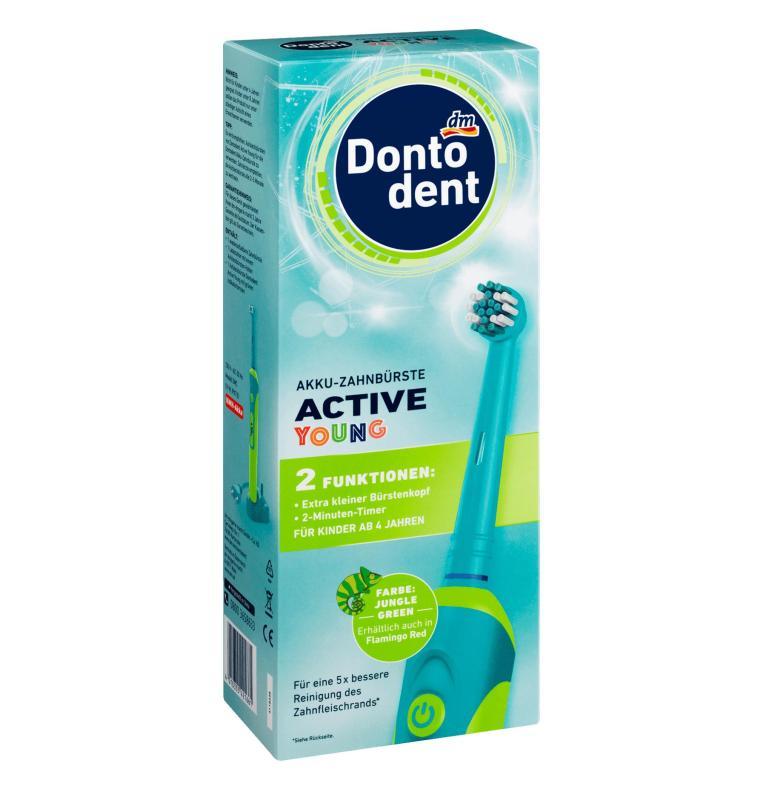 Bàn chải đánh răng máy sạc điện cho trẻ em và thanh thiếu niên DontoDent Active Young - Đức