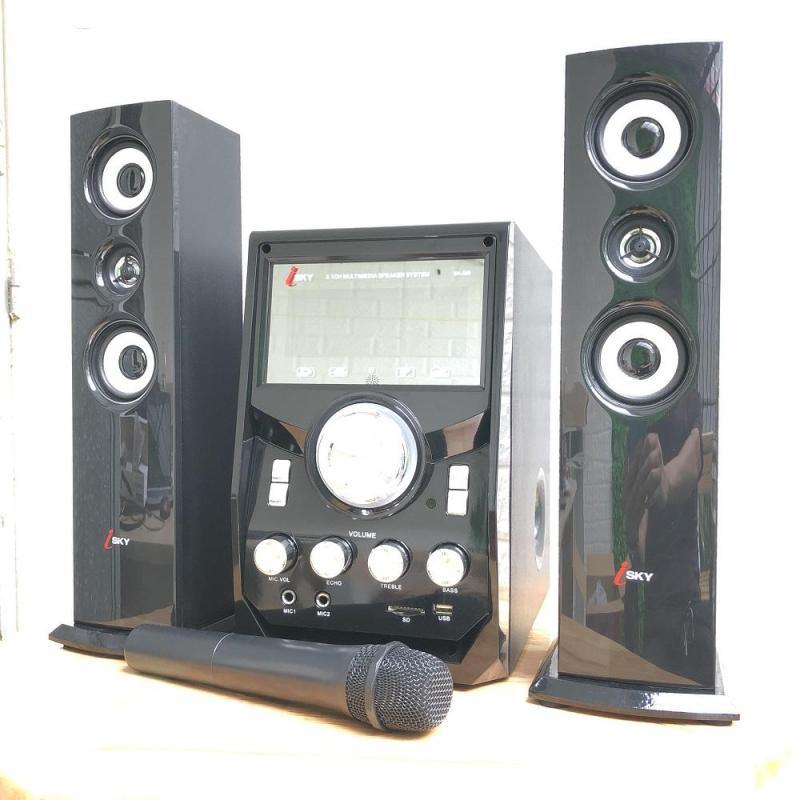 Dàn âm thanh giải trí đỉnh cao tại nhà - loa vi tính cỡ lớn hát karaoke âm thanh đỉnh cao có kết nối Bluetooth USB Isky - SK328 (Tặng kèm Microkhông dây)