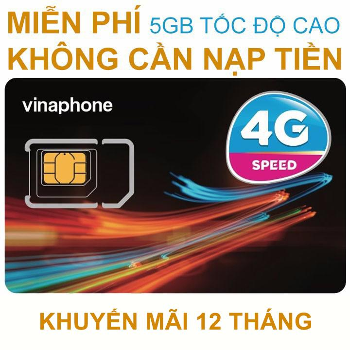 Mua Thanh Sim 4G Vinaphone D500 Trọn Goi 1 Năm Khong Nạp Tiền 5 5Gb X 12 Thang Rẻ Việt Nam