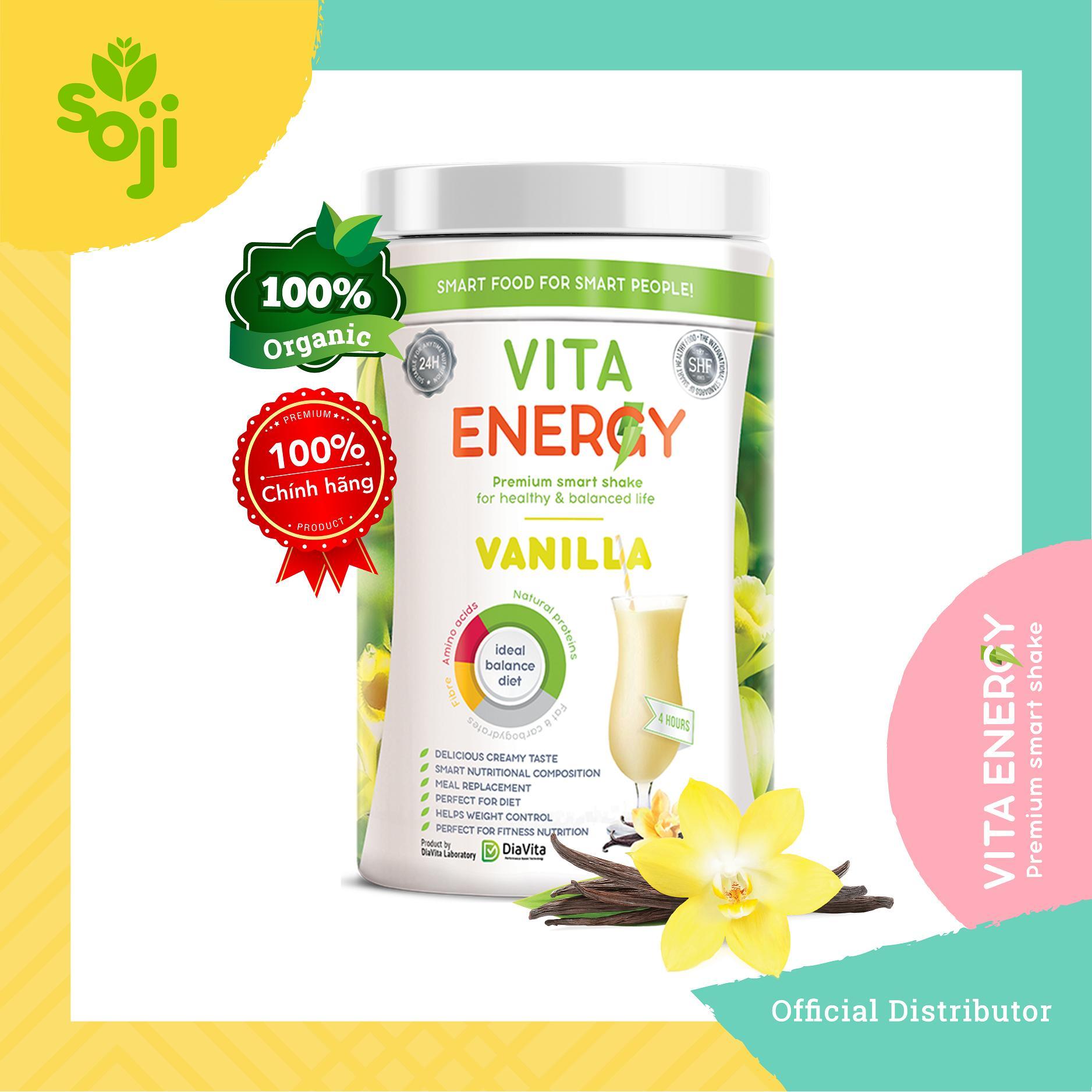 Thực phẩm bổ sung vị va-ni Vita Energy Vanilla 350gr