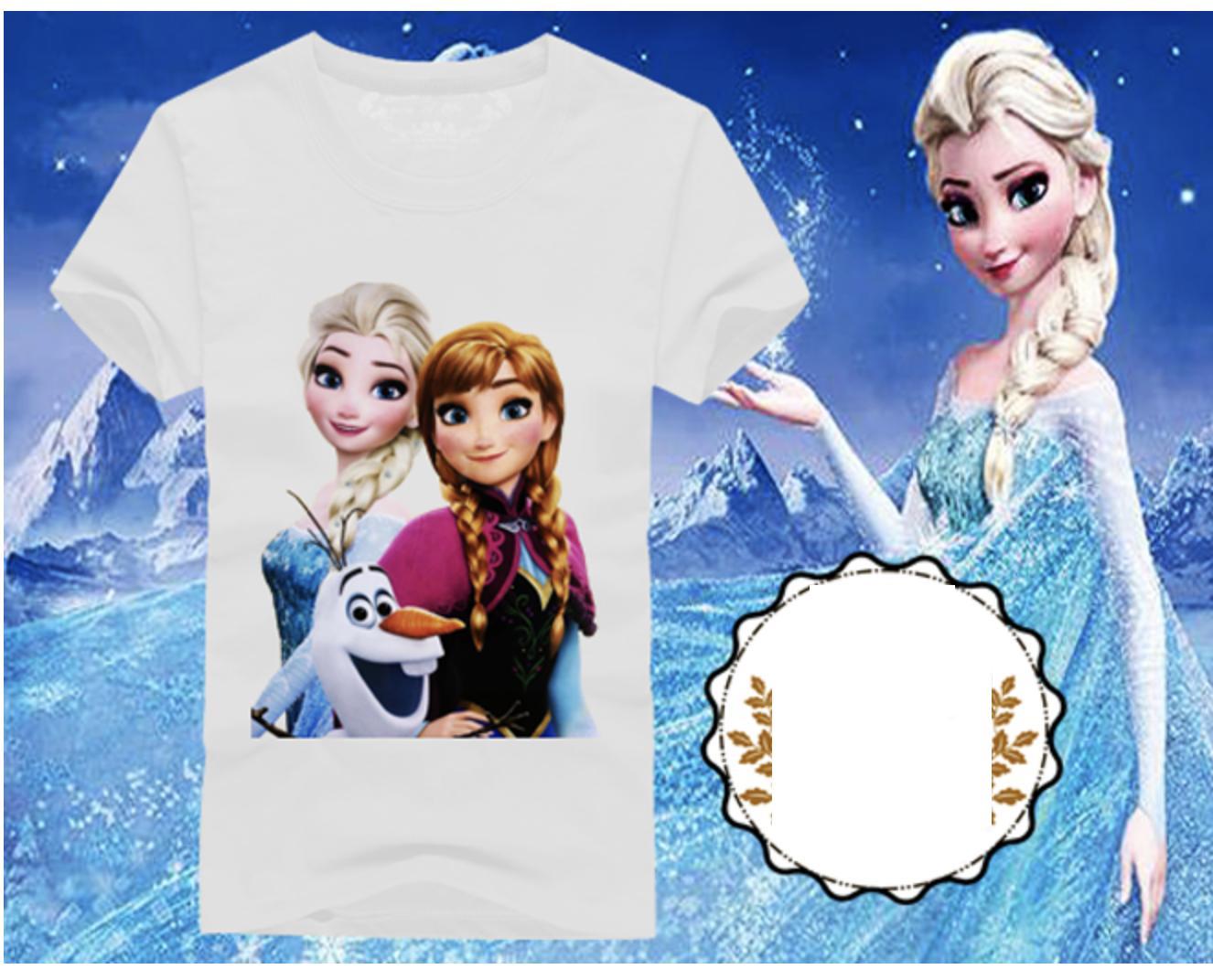 Giá bán Áo thun nữ trẻ em in hình Áo thun Frozen Elsa và Anna (Trắng)